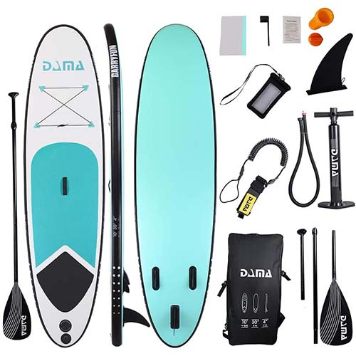 6. DAMA isup Inflatable Stand up Paddle Boards (10'), sup Paddle Board,Kids Board, sup Paddle Board, Drop Stitch and PVC