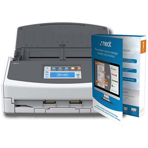 10. Fujitsu ScanSnap iX1500 Document Scanner Powered with Neat, 1 Year Neat Premium License