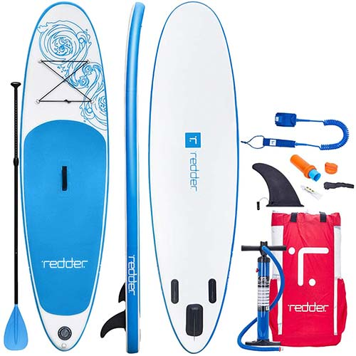3. redder Inflatable Stand Up Paddle Board with Premium SUP Accessories & Carry Bag|Wide Stance, Bottom Fin
