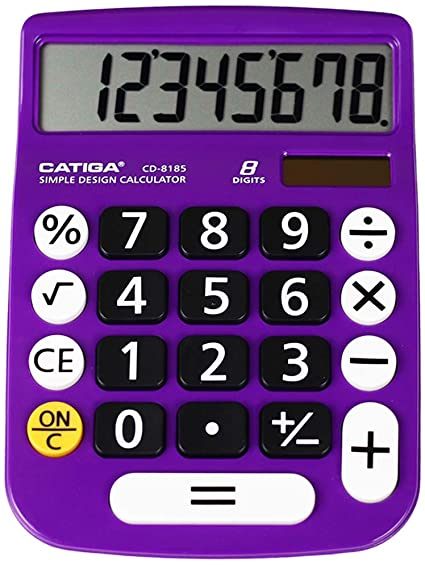 10. Basic Calculator: Catiga CD-8185 Office and Home Style Calculator – 8-Digit – Educational - Suitable for School and Destop-use
