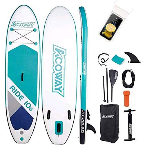 8. Acoway Inflatable Stand Up Paddle Board, 10'6