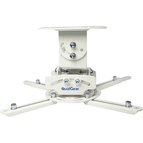 4. QualGear PRB-717-WHT Universal Ceiling Mount Projector Accessory