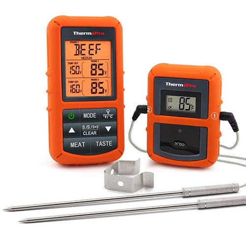 2. ThermoPro TP20 Wireless Remote Digital Cooking Food Meat Thermometer with Dual Probe
