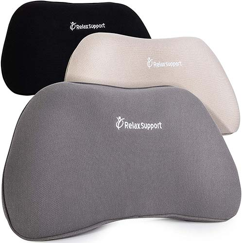 8. RS1 Back Support Pillow by RelaxSupport – Lumbar Pillow Upper and Lower Back for Chair