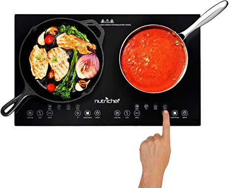 2. Double Induction Cooktop - Portable 120V Portable Digital Ceramic Dual Burner w/ Kids Safety Lock