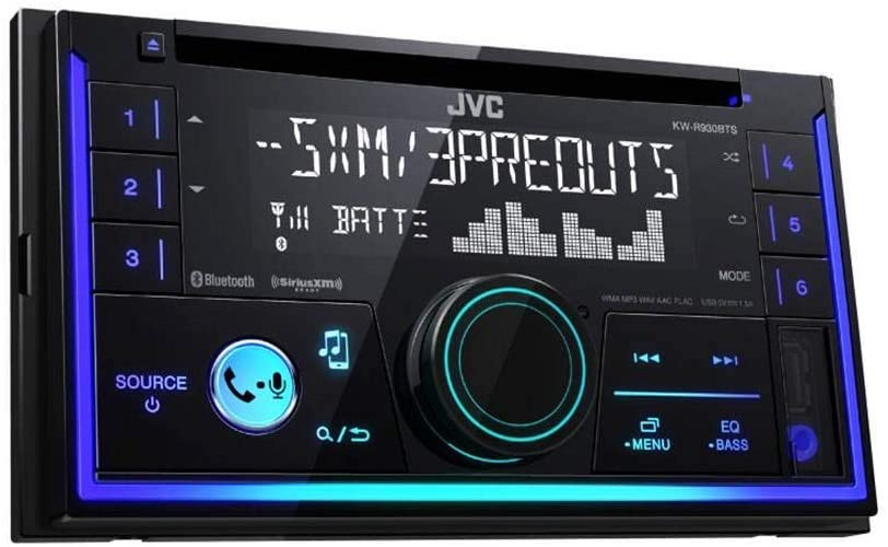9. JVC KWR930BT Car Stereo - Double Din, Bluetooth, CD, MP3/USB AM/FM Radio, Multi-Colour Illumination
