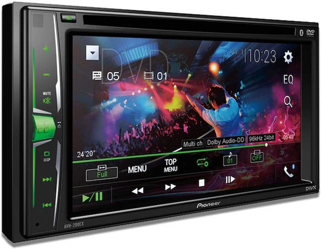 1. Pioneer AVH-200EX Multimedia DVD Receiver with 6.2