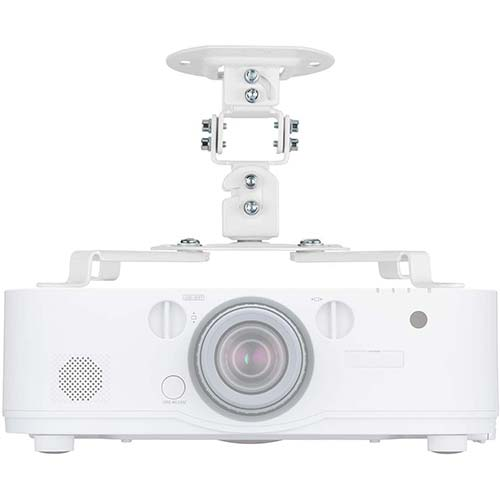 2. Universal Projector Mount Bracket Low Profile Multiple Adjustment Ceiling, Hold up to 30 lbs. (PM-002-WHT)