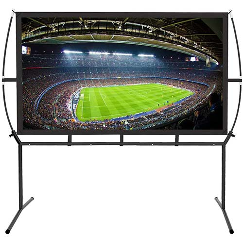 1. Portable Projector Screen with Stand, Indoor and Outdoor Movie Screen 120