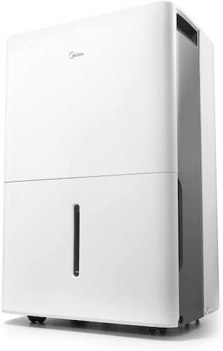8. MIDEA MAD50C1ZWS Dehumidifier 70 Pint with Reusable Filter