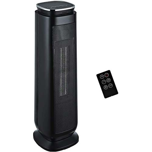 9. Aikoper Space Heater, 1500W Ceramic Tower Heater, Portable Electric Oscillating Heater