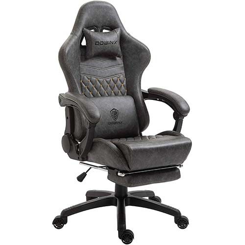 1. Dowinx Gaming Chair Office Chair PC Chair with Massage Lumbar Support, Vantage Style PU Leather High Back