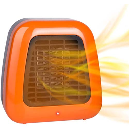 7. Givebest Mini Space Heater, 400W Low Wattage Personal Desk Heater with Tip-Over Protection
