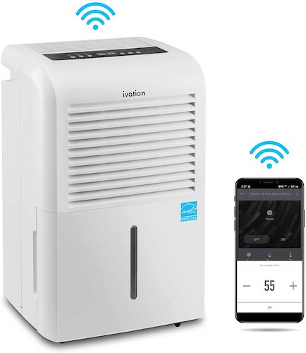 3. Ivation 4,500 Sq Ft Smart Wi-Fi Energy Star Dehumidifier with App