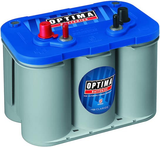 7. Optima Batteries 8016-103 D34M BlueTop Starting and Deep Cycle Marine Battery