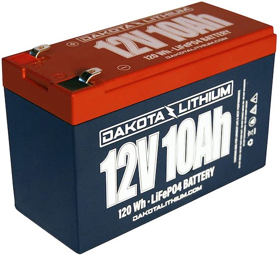 9. 12 Volt Rechargeable Lithium Battery - 12 V 10 Ah - LiFEPO4