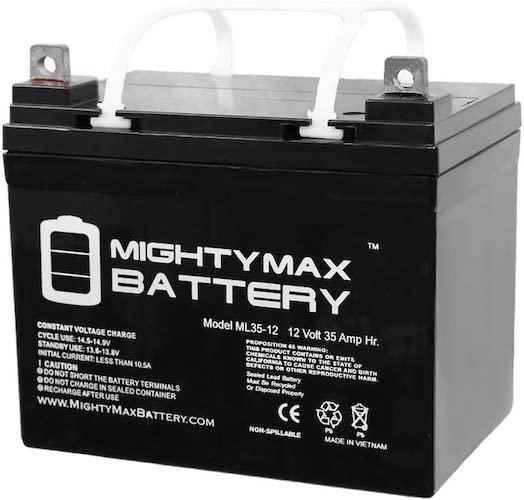 6. Mighty Max Battery ML35-12 - 12V 35AH U1 Deep Cycle AGM Solar Battery