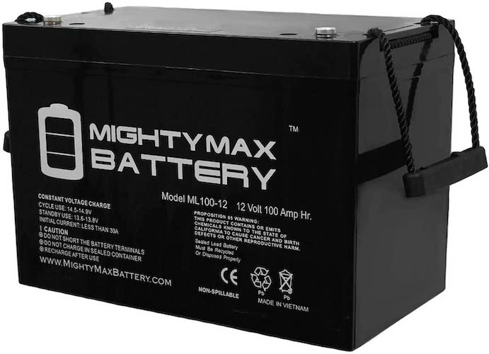 7. ML100-12 12V 100AH SLA Battery - Mighty Max Battery Brand Product