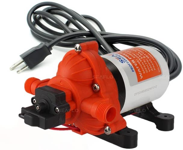 9. SEAFLO 33-Series Industrial Water Pressure Pump w/Power Plug for Wall Outlet - 115VAC, 3.3 GPM, 45 PSI