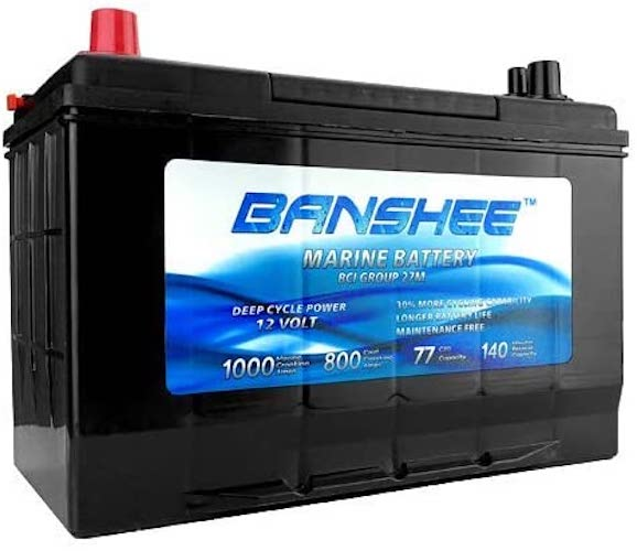 9. Deep Cycle Marine Battery Replaces D27M 8027-127 Group 27