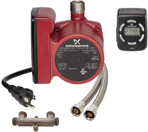 2. NEW 2019 model replaces Grundfos 595916 with 99452459 UP15-10SU7P/LC Instant Hot Water Comfort Recirculation System