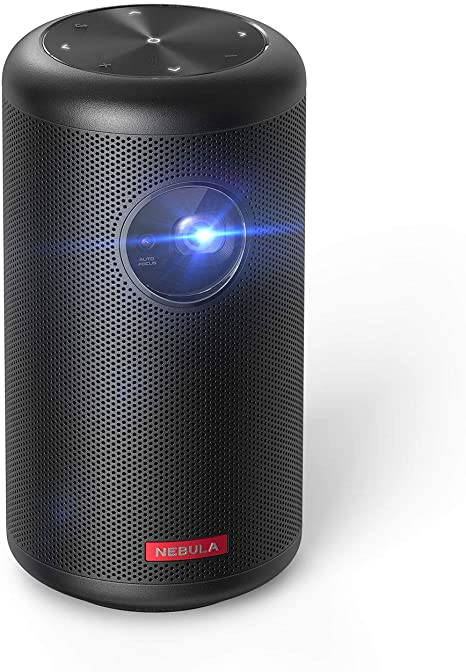 10. Nebula Capsule II Smart Mini Projector, by Anker, 200 ANSI Lumen 720p HD Portable Projector
