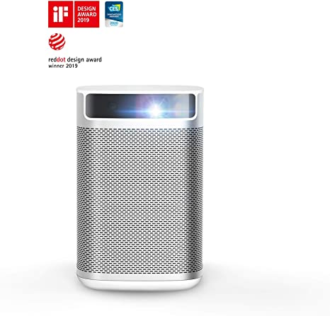 4. XGIMI MoGo, Smart Mini Portable Projector with Wi-Fi Bluetooth Android TV 9.0 5000+ Native apps