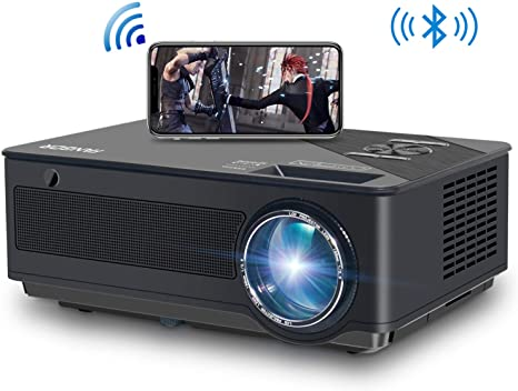 2. Native 1080p Full HD Projector, WiFi Projector, Bluetooth Projector, FANGOR 6500 Lumens/250 Display/ Contrast 8000: 1 Full HD Theater Projector