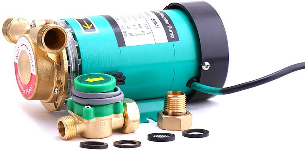 10. ZHKUO120W Water Pressure Booster Pump 3/4 inch Outlet Automatic Shower Booster Pump