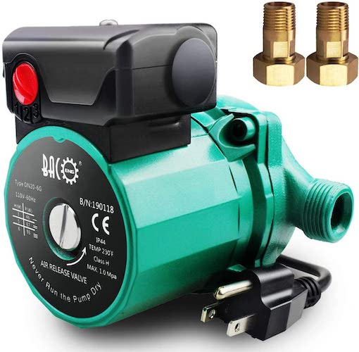 6. BACOENG 3/4 inch NPT Hot Water Circulation Pump for Floor Heating & Recirculating System