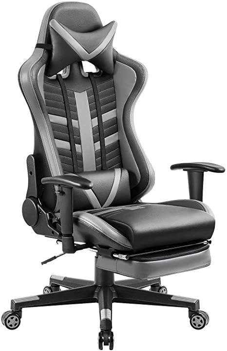 10. Homall Executive Desk Footrest Computer Swivel Office Headrest and Lumbar Support Ergonomic High-Back Racing Chair