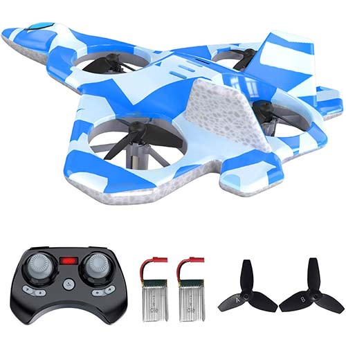 8. Mayceyee F22 RC Drones for Kids and Beginner, Easy to Fly and Hover, RC Helicopter Quadcopter Fighter Jet