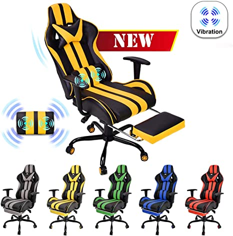4. Video Gaming Chair, E-Sports Chair, Office Chair, PC Gaming Chair, Racing Style Massage Racing Chair
