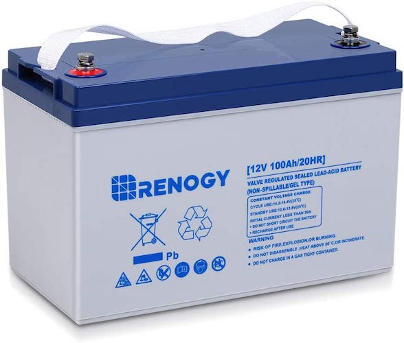 2. Renogy Deep Cycle Hybrid Gel 12 Volt 100Ah Battery