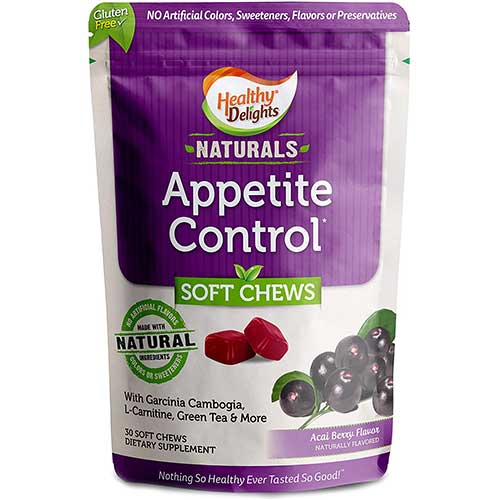 1. Healthy Delights Naturals, Appetite Control Soft Chews, Garcinia Cambogia, L Carnitine, Green Tea, White Kidney Bean Blend