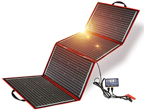 3. DOKIO 220 Watts Monocrystalline Foldable Solar Panel