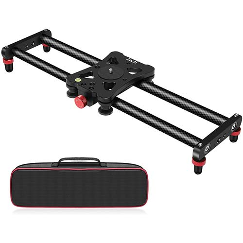 1. Zecti Camera Slider, Adjustable Carbon Fiber Camera Dolly Track Slider Video Stabilizer Rail