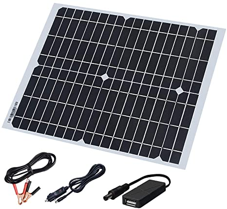 6. XINPUGUANG 20 Watt 18 Volt Monocrystalline Flexible Solar Panel Kit