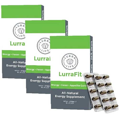 7. Lurra Life LurraFit Capsules | Natural Energy Supplement with Appetite Suppression