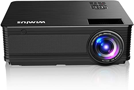 7. Projector, WiMiUS New P18 6500 Lumens 1080P Video Projector Support 200'' Screen