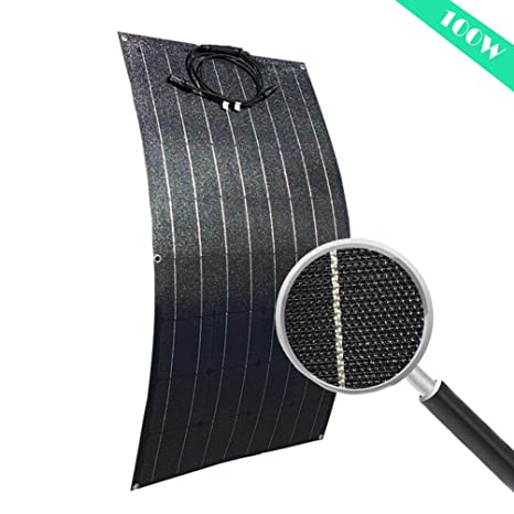 5. AUECOOR 100 Watt Flexible Solar Panel