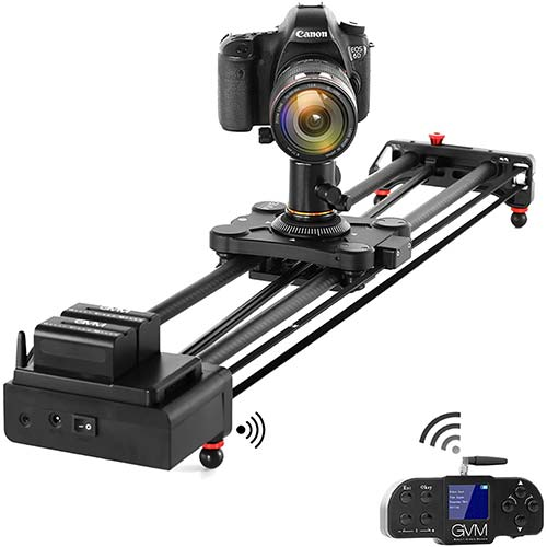 8. GVM Video Slider,Wireless Carbon Fiber Motor Camera Slider with Bluetooth Remote & Mobile App Control
