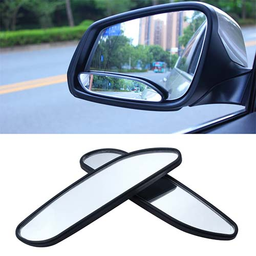 8. EFORCAR(R 2PCS Car Mirror Side View Blind Spot & Wide Mirror Stick on Auxiliary Angle Adjustable