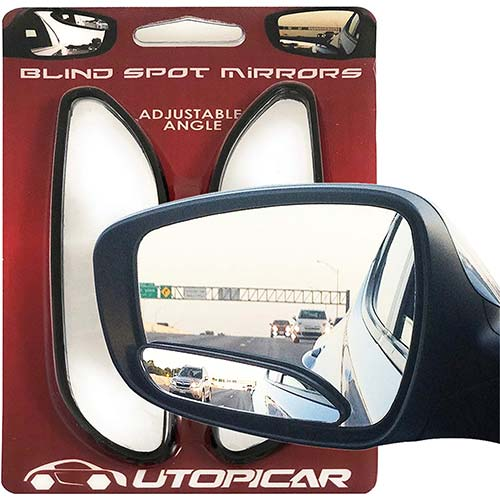 5. Blind Spot Mirrors. long design Car Mirror for blind side by Utopicar for traffic safety. Door mirrors