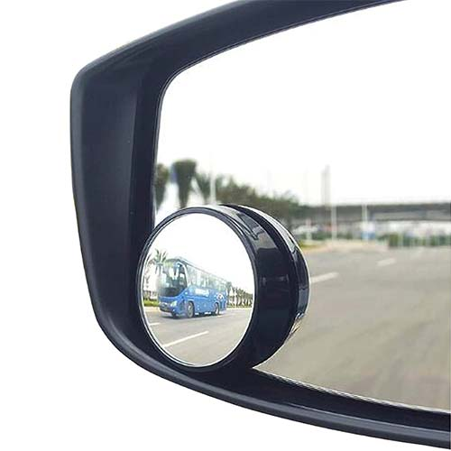 3. KEWAYO 2 Pack Automotive Blind Spot Mirrors, Small Round Convex Adjustable 360°Rotate Wide Angle Car Rear View Mirror