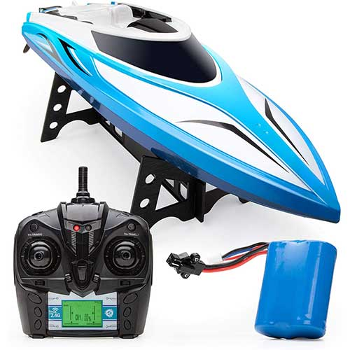 8. Force1 Velocity RC Boat - H102 RC Boat for Adults and Kids for Pools and Lakes