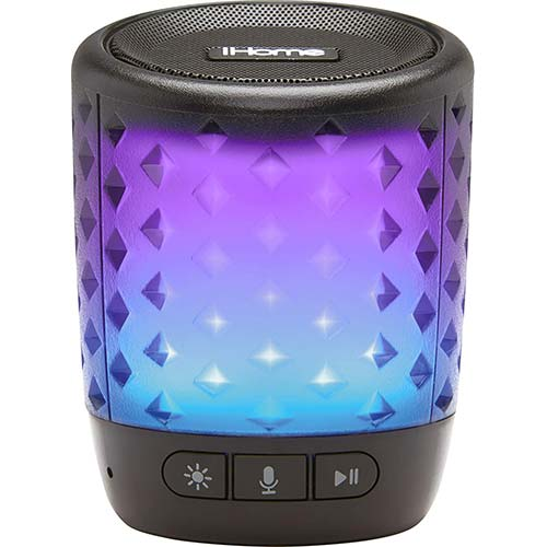 9. iHome Color Changing Rechargeable Bluetooth Speaker - with Siri,Google Assistant & Melody Voice Control