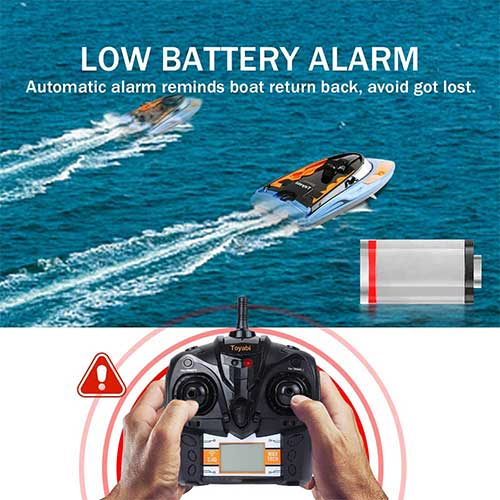 7. GizmoVine RC Boat High Speed (20MPH+) Remote Control Boats for Pools and Lakes