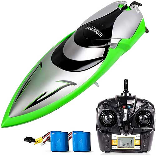 4. Remote Control Boats - SHARKOOL H106 Rc Self Righting Racing Boats for Boys & Girls