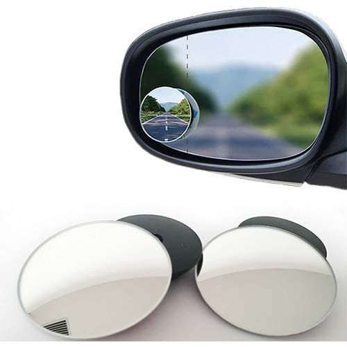 9. Blind Spot mirror, 2 in Round Wide Angle Blind Spot Mirror, HD Glass Convex Rear View Mirror